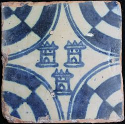 Manises tile with towers