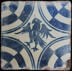 Manises tile with eagle