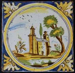Large majolica tile from Toledo