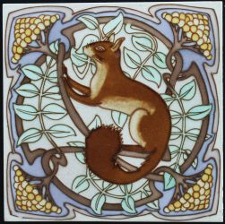 Large tile with squirrel