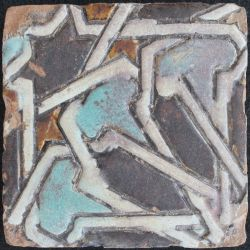 Early cuerda seca floor tile