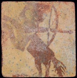 medieval tile decorated with Centaur