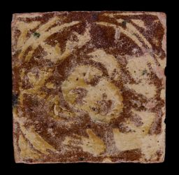 English medieval floor tile decorated with a king