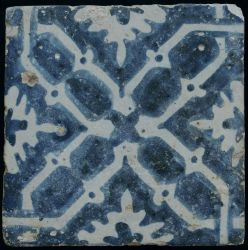 Manises tile with bones and flowers