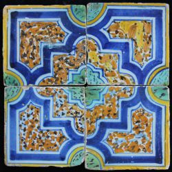 4 Polychrome tiles