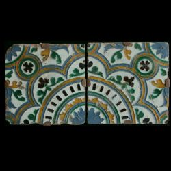 Pair of arista tiles from Toledo